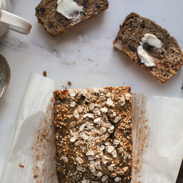 Spelt oat date banana bread with cocoa nibs and millet seeds a spelt oat date banana bread with cocoa nibs and millet seeds a cozy kitchen forumfinder Image collections