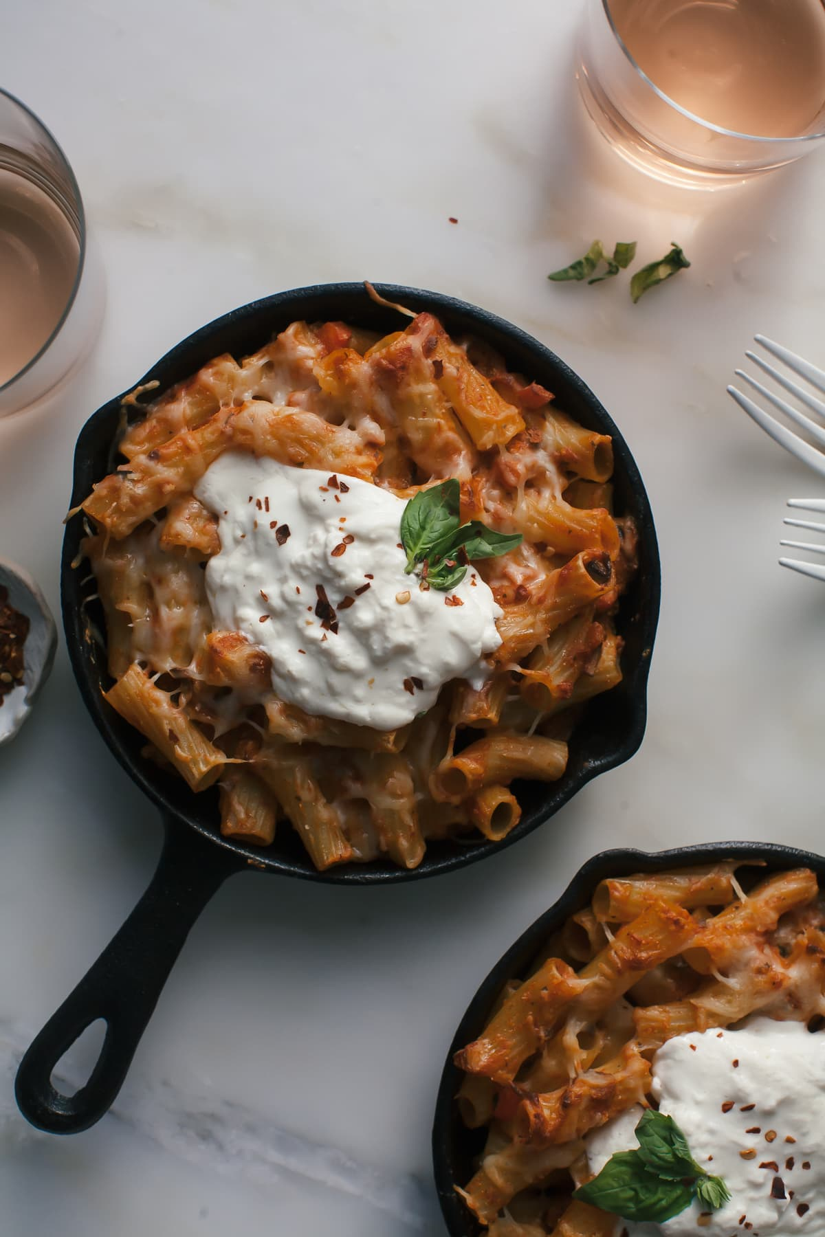 Veggie Baked Ziti with Burrata