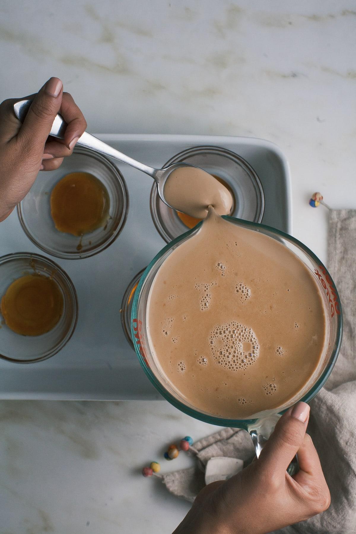 Milk Tea Flan with Boba