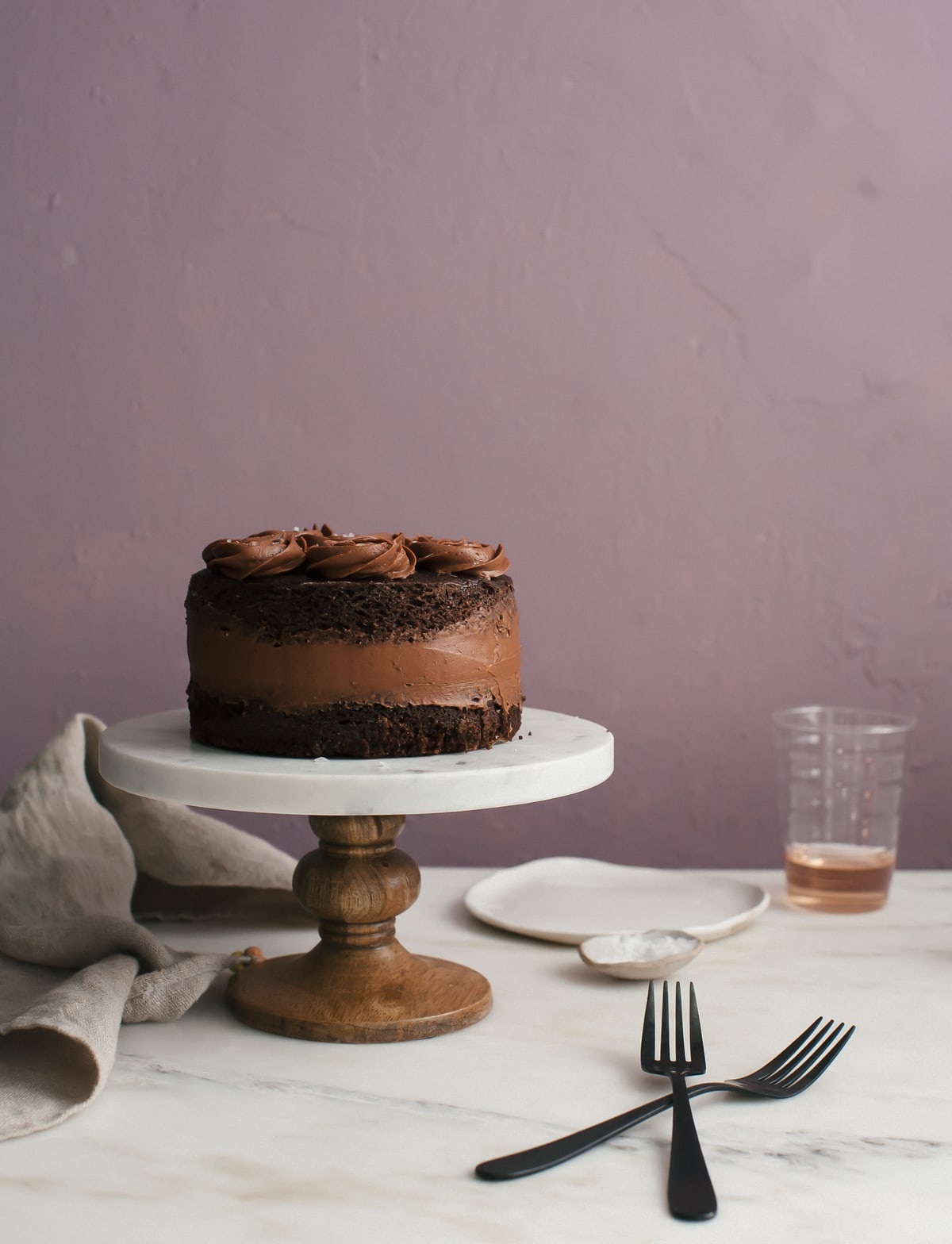 One-Bowl Chocolate Cake (For Two)