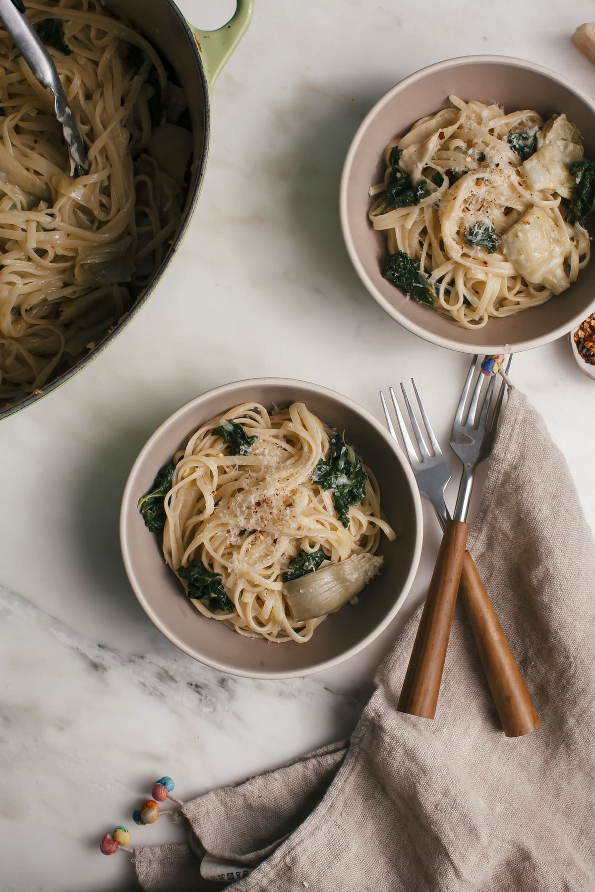 Lemon Kale One Pot Pasta