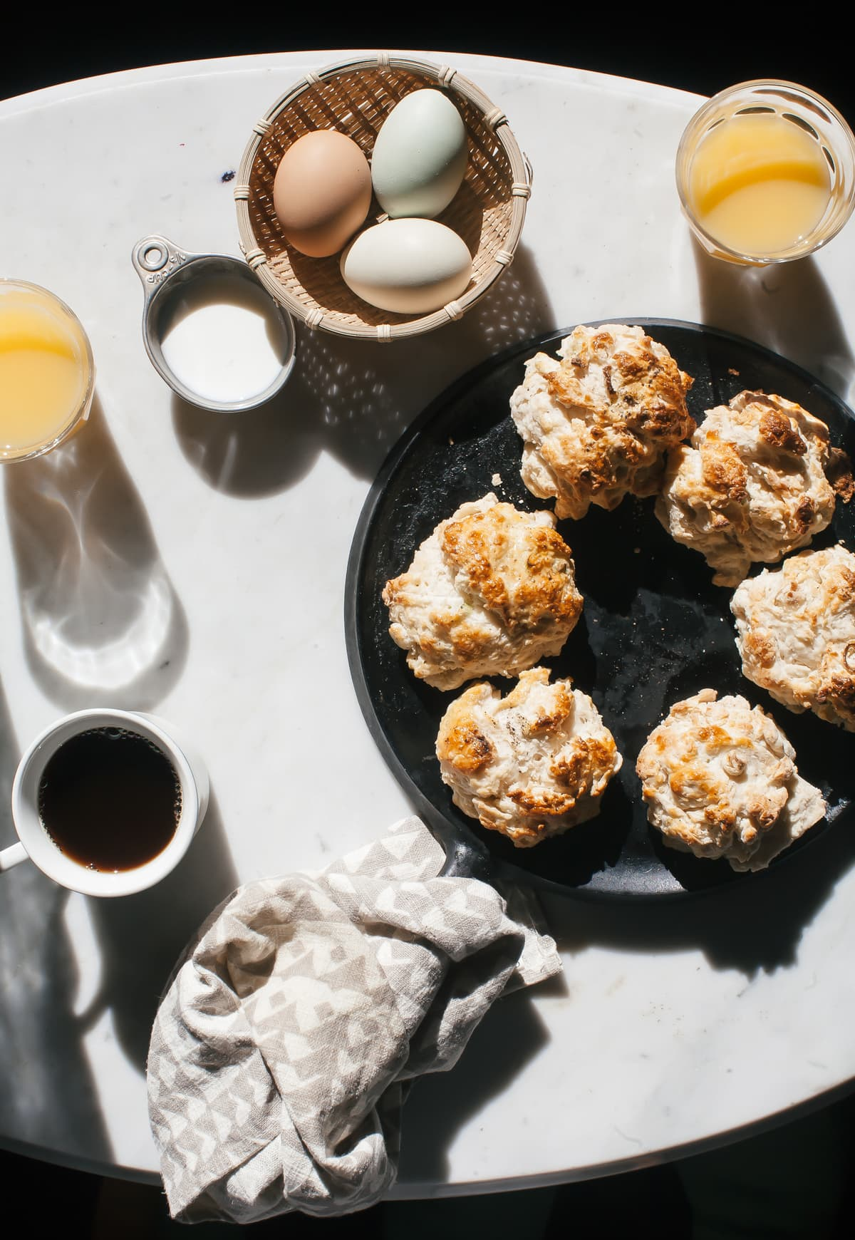 Cabin Cooking: Scallion Black Pepper Biscuits