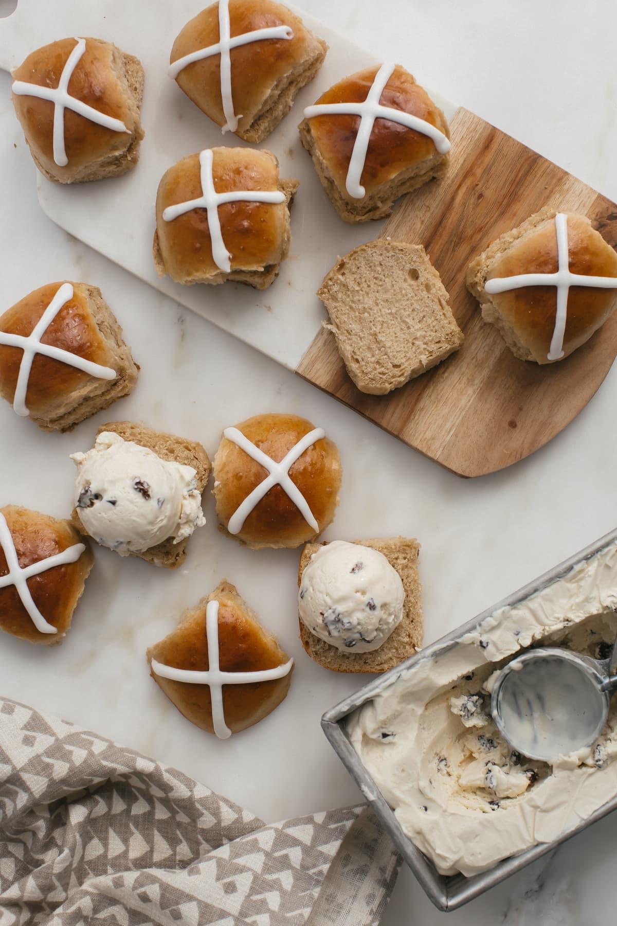 Hot Cross Ice Cream Sandwiches-4