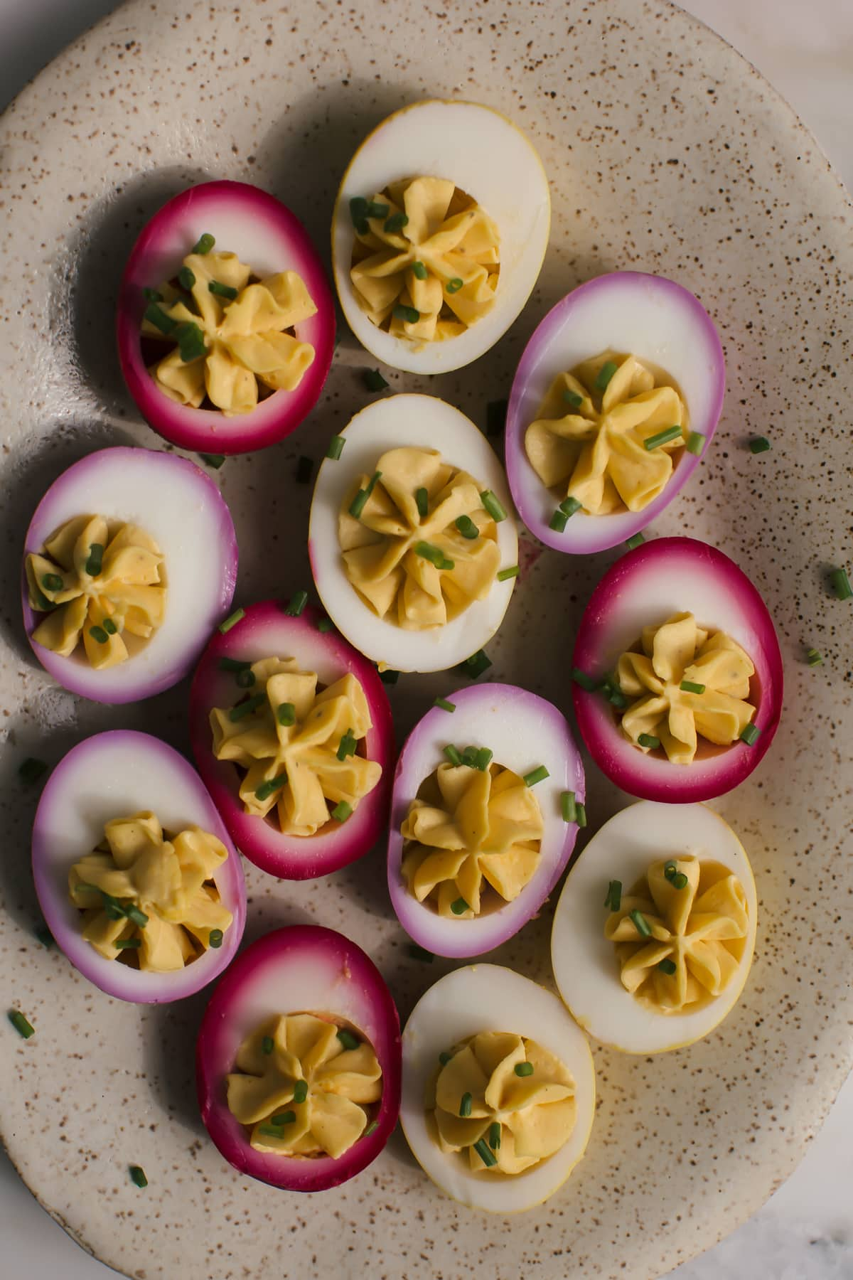 Naturally Pickled Deviled Eggs