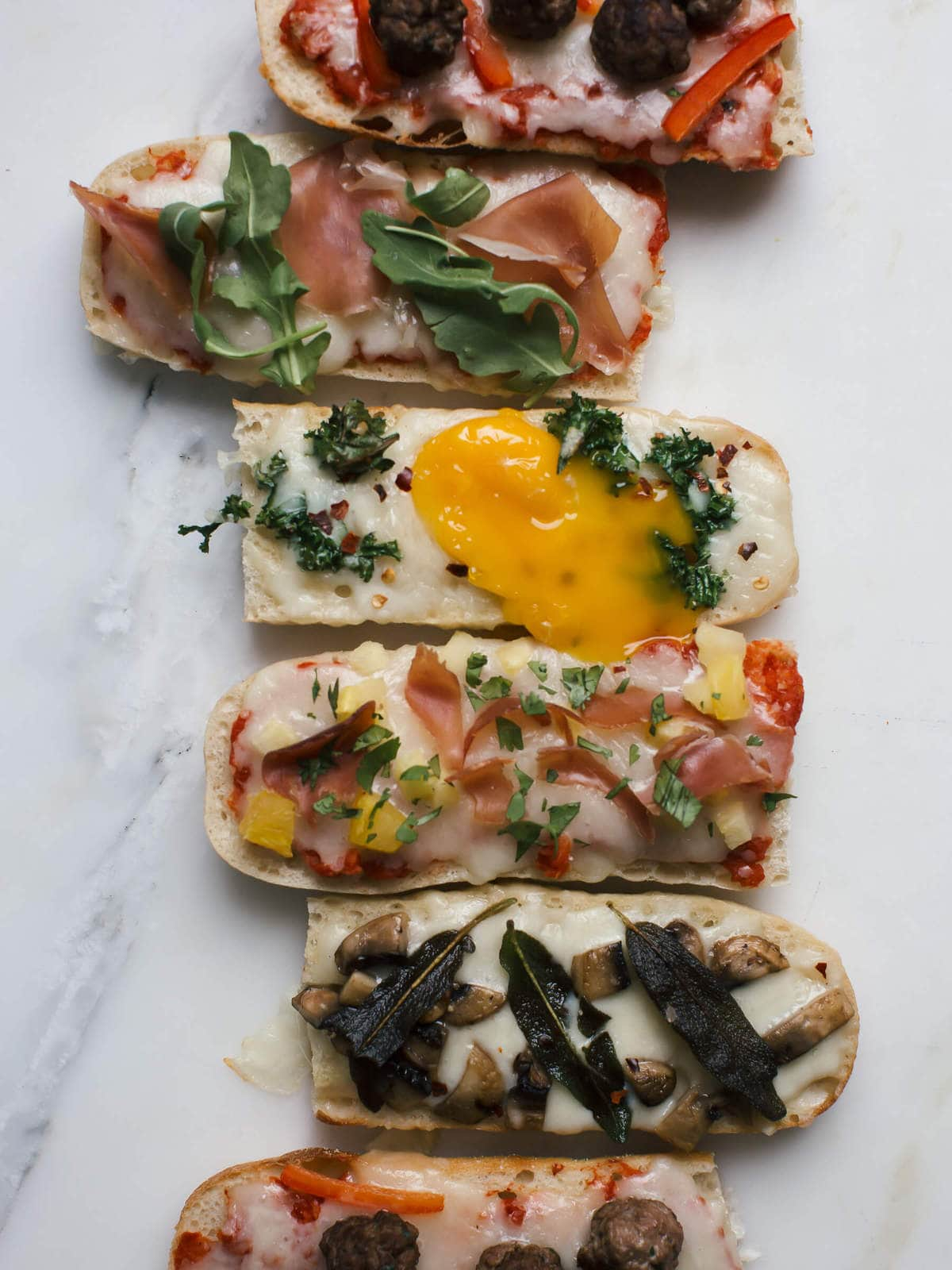 Fancy-Ass French Bread Pizzas