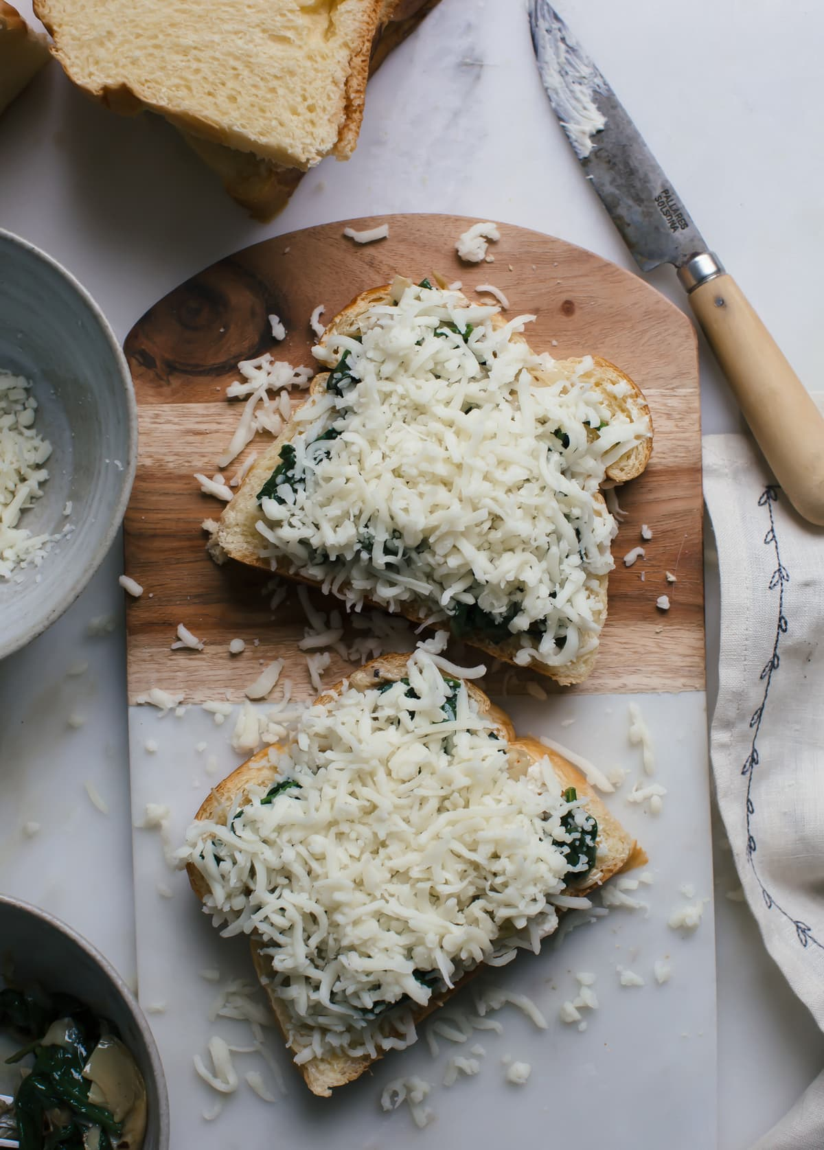 Spinach & Artichoke Dip Grilled Cheese