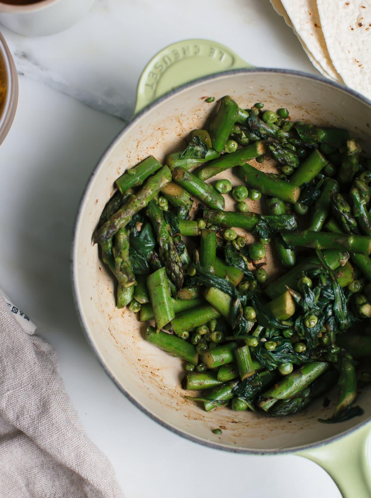 Spring Veggie Enchiladas