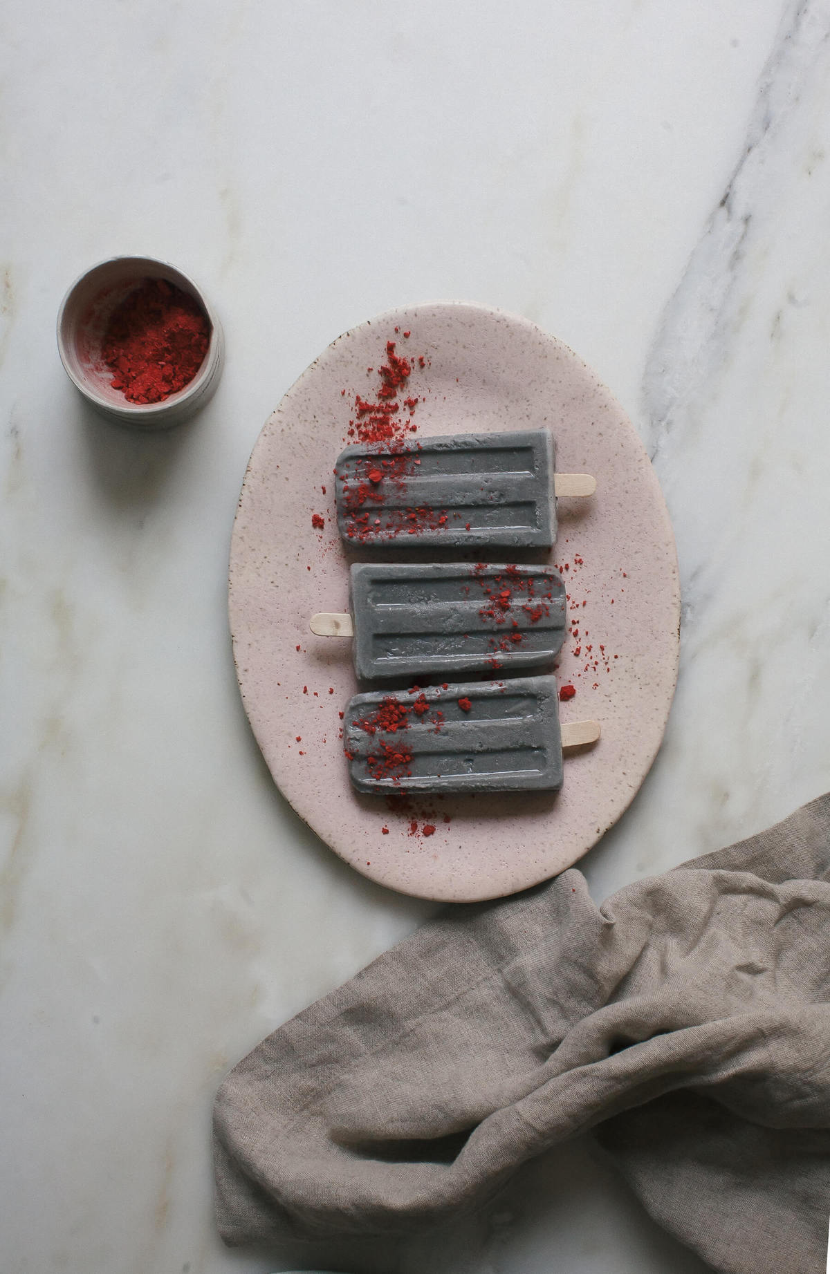 Black Sesame Coconut Popsicles
