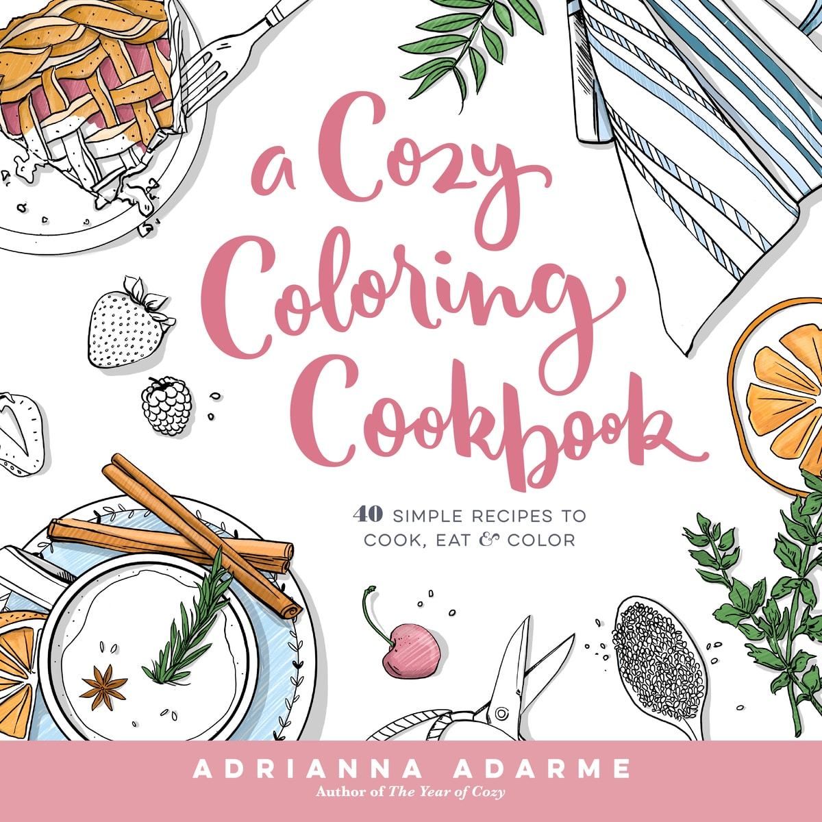a cozy coloring cookbook u2013 a cozy kitchen