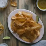 Crispy Plantain Chips with Mojo Sauce