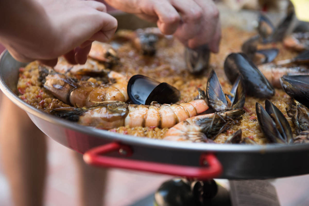 Paella Party with Anthropologie