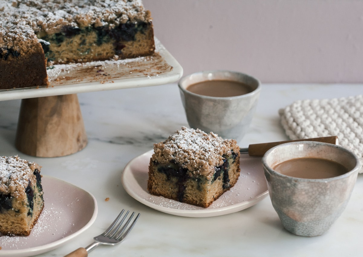Blueberry Cardamom Coffee Cake
