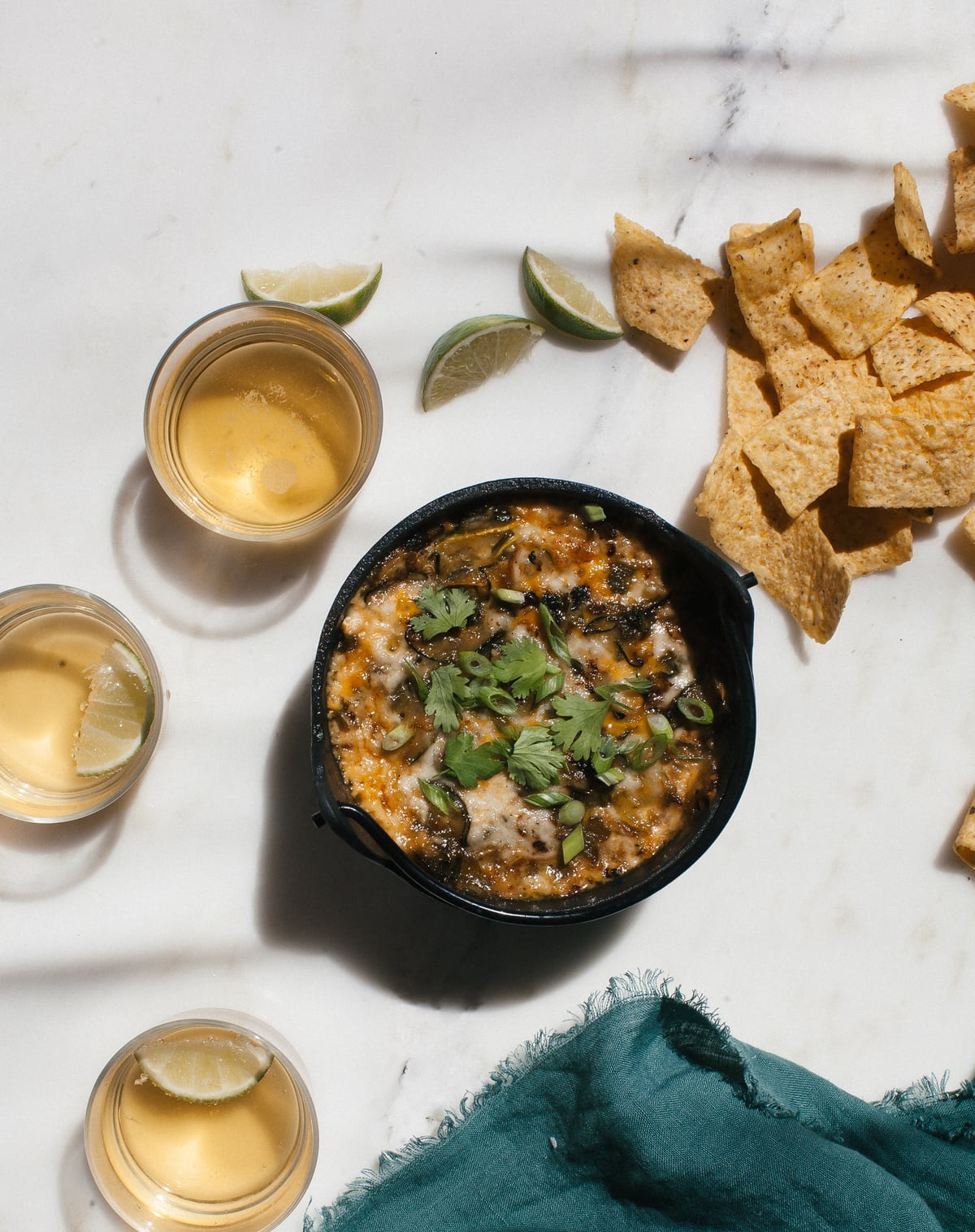 Hatch Chile Summer Squash Queso Fundido