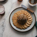 Cheddar Cheeseball Rolled in Dukkah