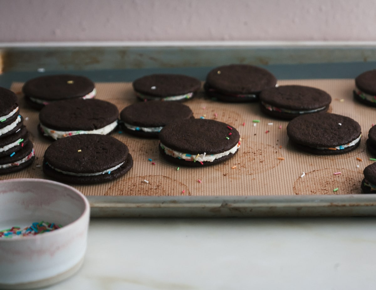 Homemade Birthday Oreos