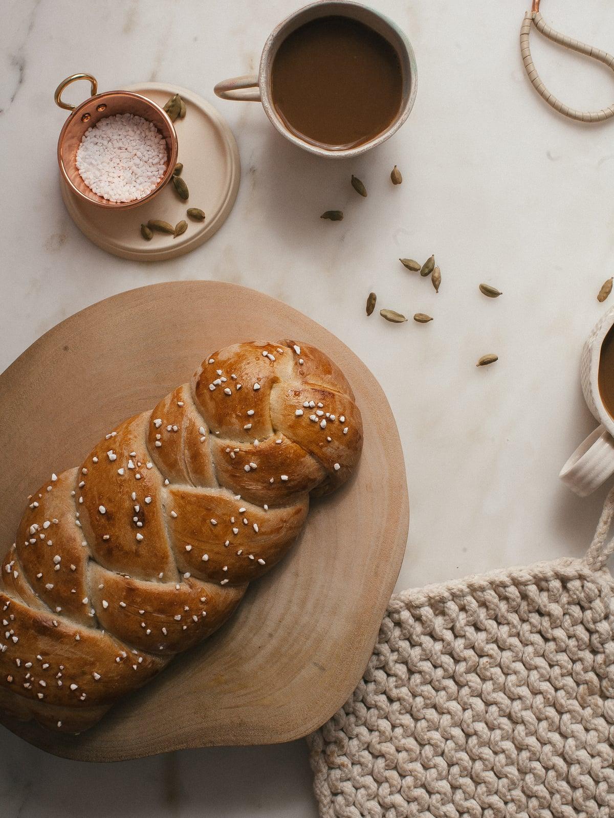 Swedish Cardamom Braided Loaf