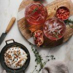 Blood Orange & Pomegranate Thyme Spritz