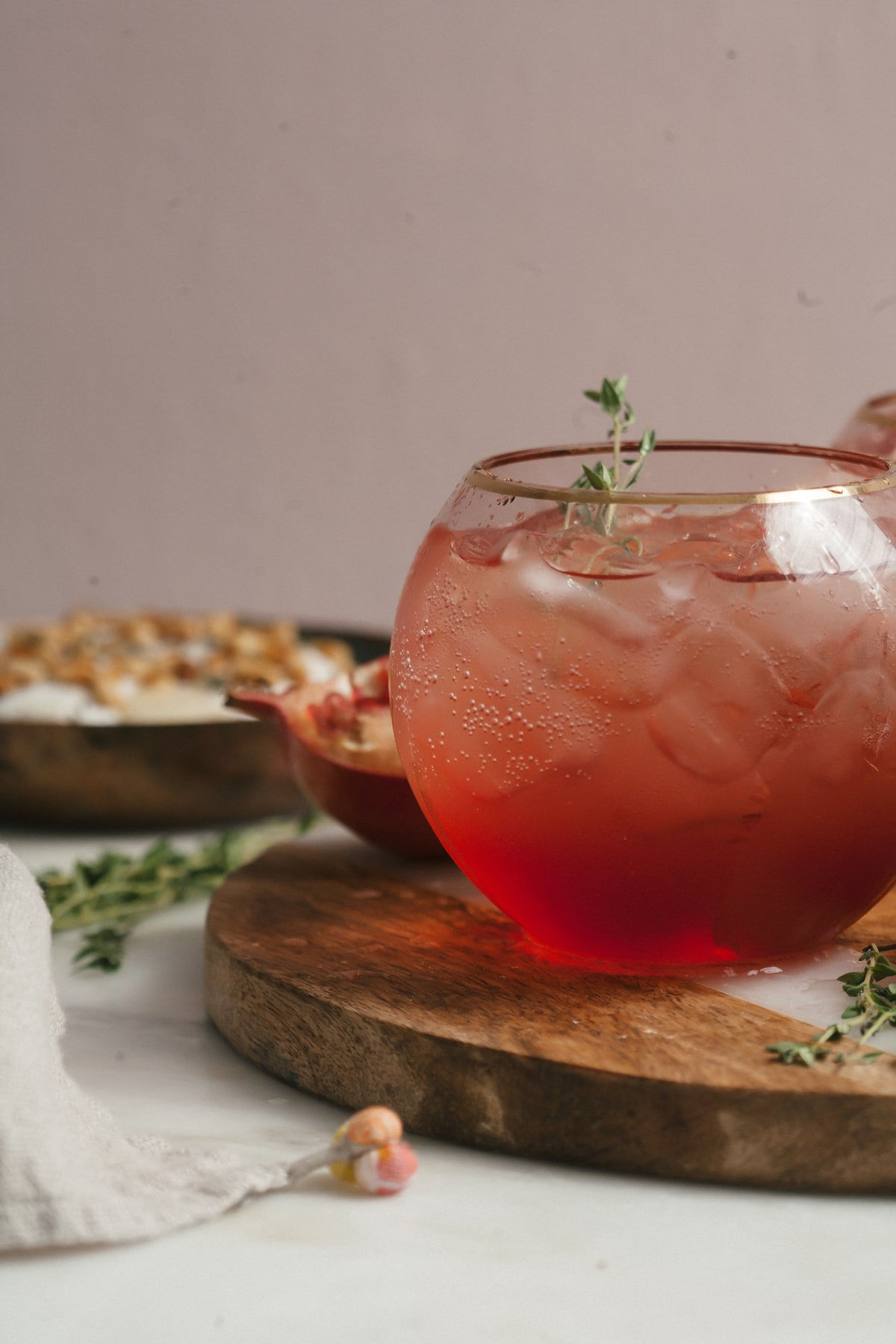Blood Orange & Pomegranate Thyme Spritz