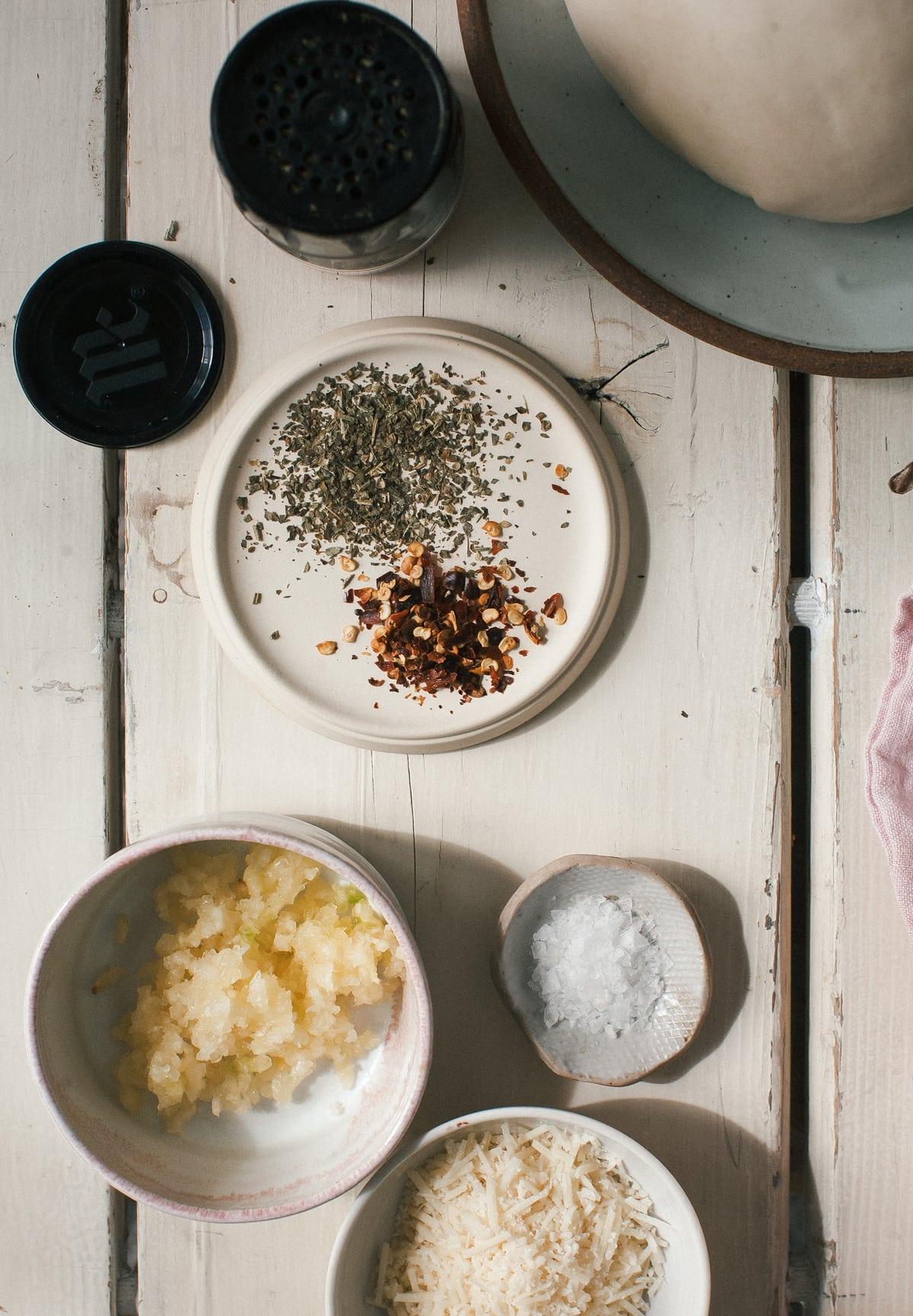 Garlic-y Olive-y Pull Apart Knots