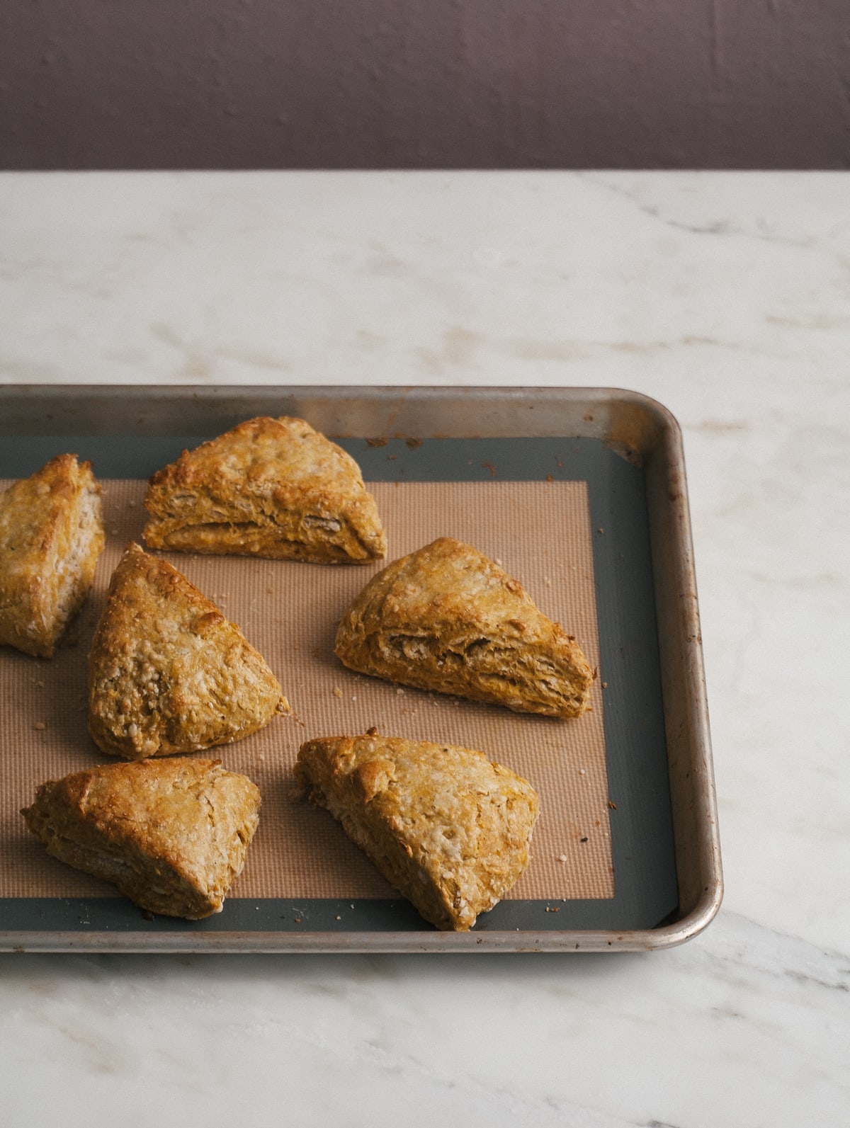 Pumpkin Chai Scones with Black Tea Glaze