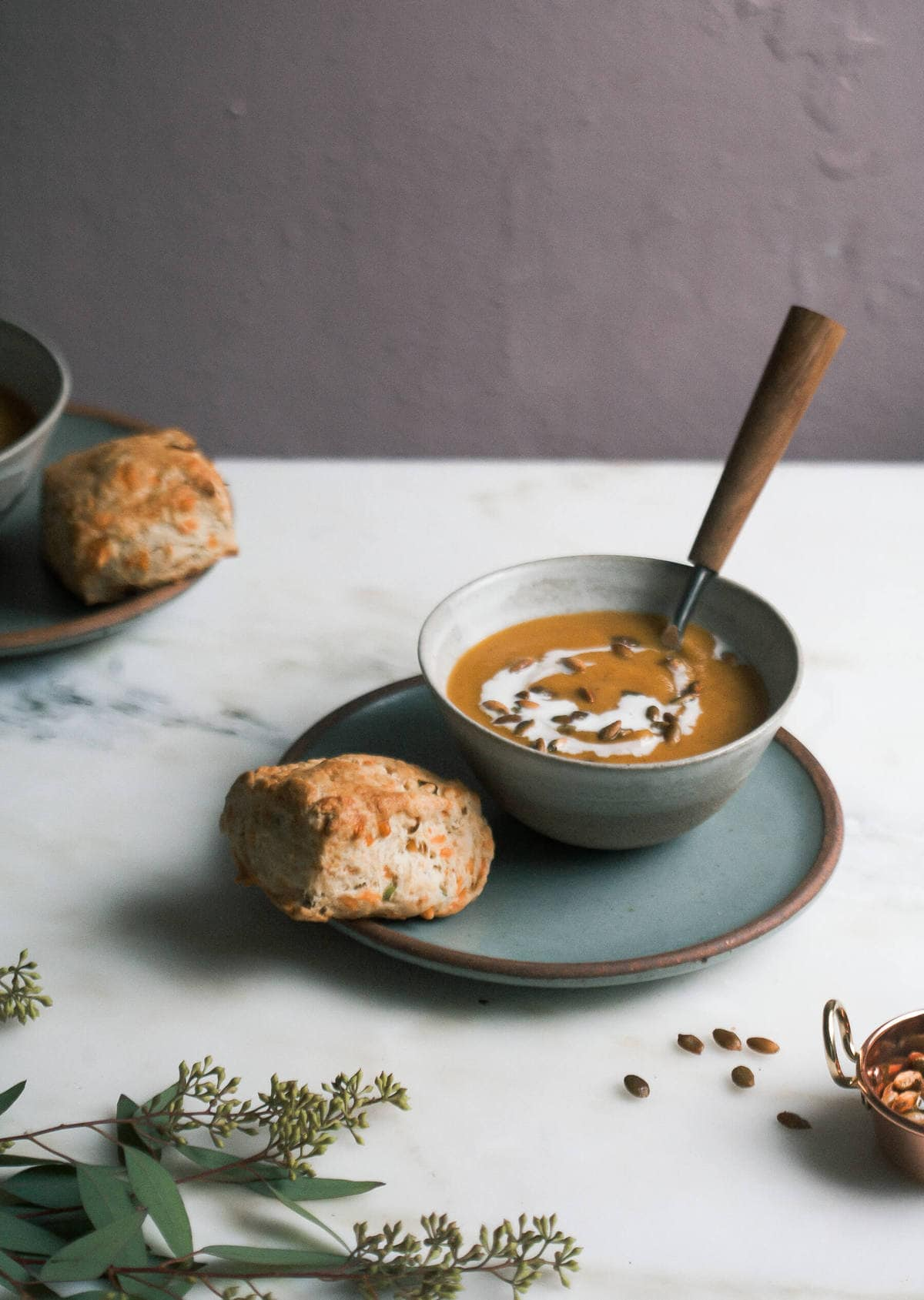 Scallion Cheesy Beer Bread Biscuits