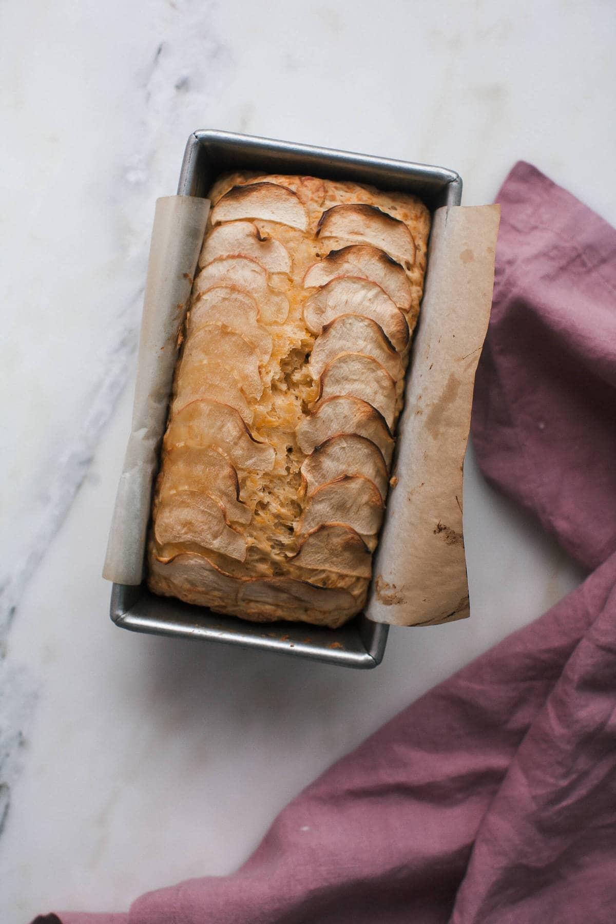 Apple Cider Cheddar Bread