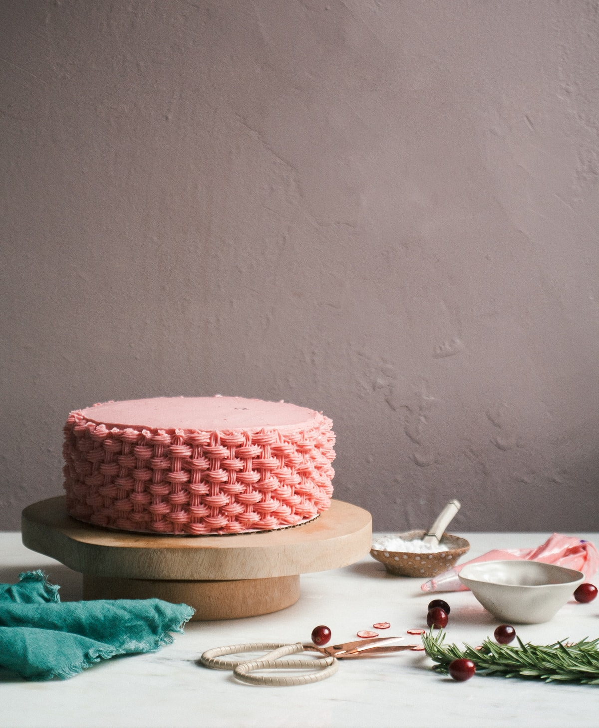Cranberry Chestnut Cake