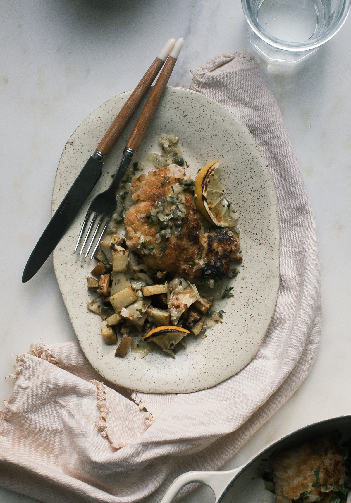 Almond-Crusted Chicken Piccata