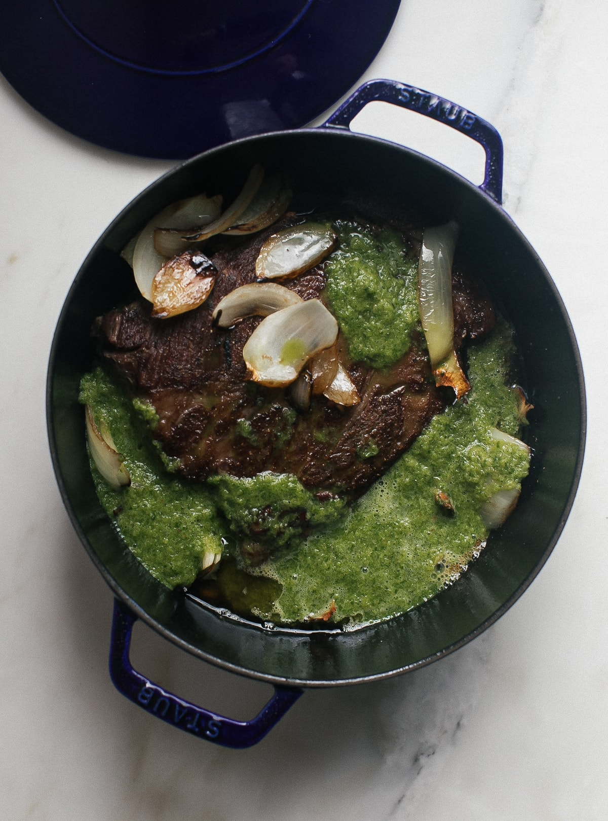 Peruvian-ish Pot Roast with Silky Smooth Cauliflower Puree