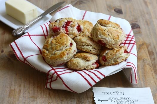 strawberry black pepper biscuits a cozy kitchen