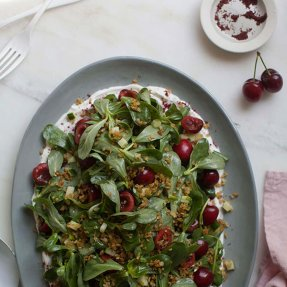 purslane-cherry-salad-freekeh