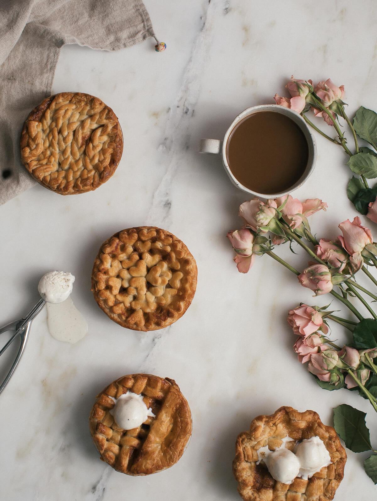 mini caramel chai spiced apple pies a cozy kitchen