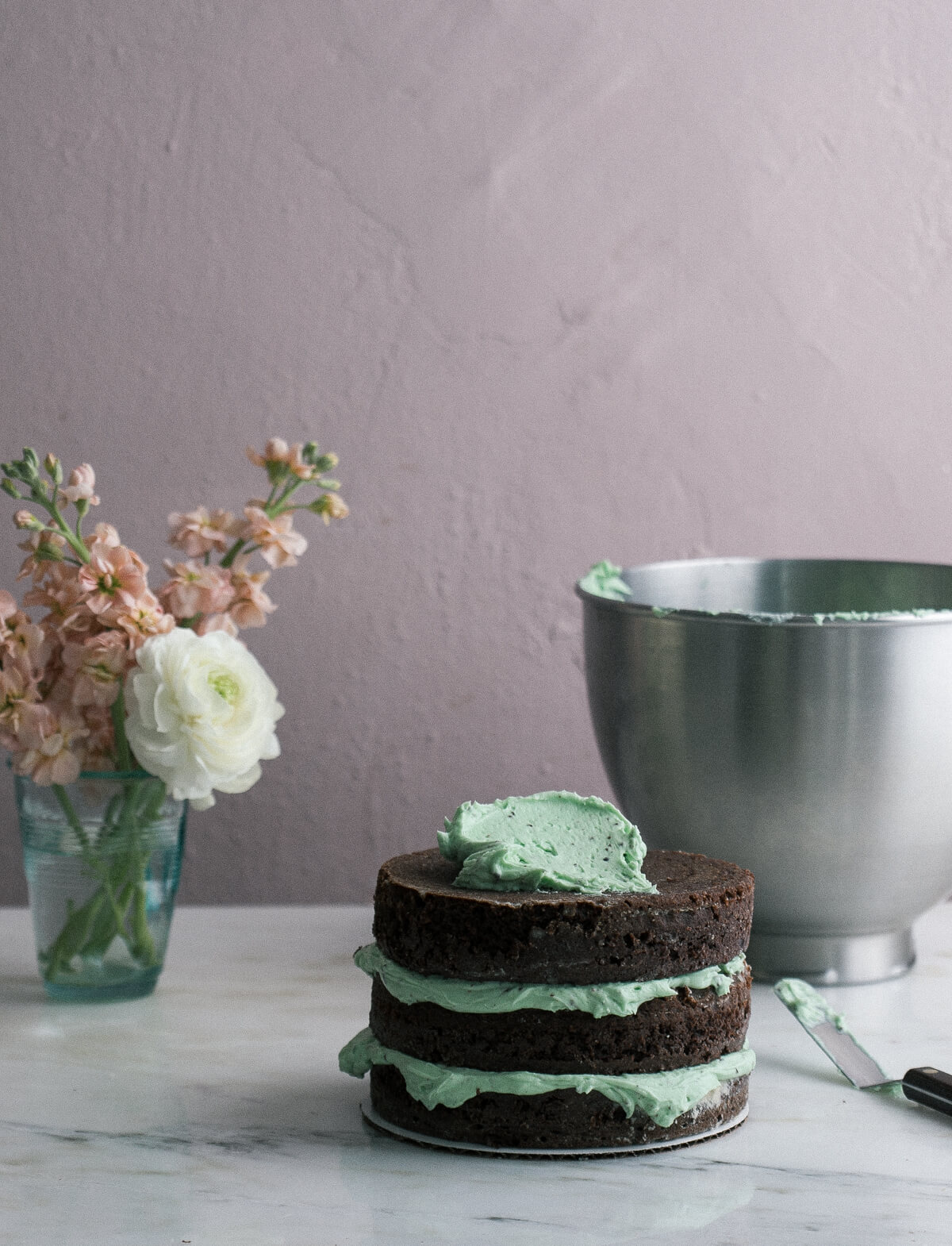 Mint Chocolate Chip Cake – A Cozy Kitchen