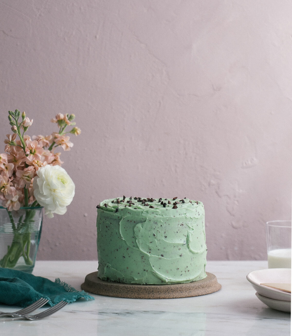 Mint Chocolate Chip Cake A Cozy Kitchen