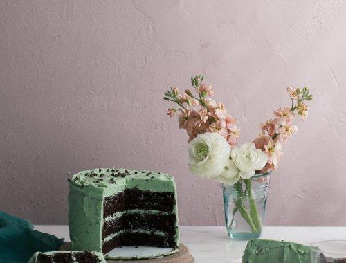 Acozykitchen Mint Chocolate Chip Cake