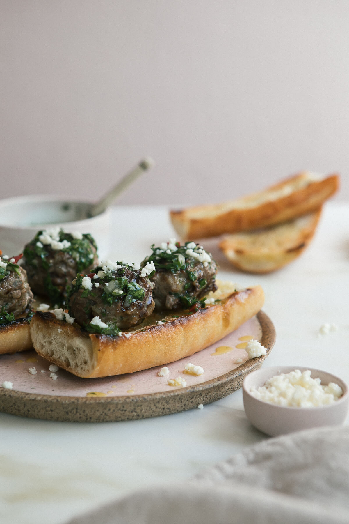 Grilled Meatball Chimichurri Sandwiches – A Cozy Kitchen