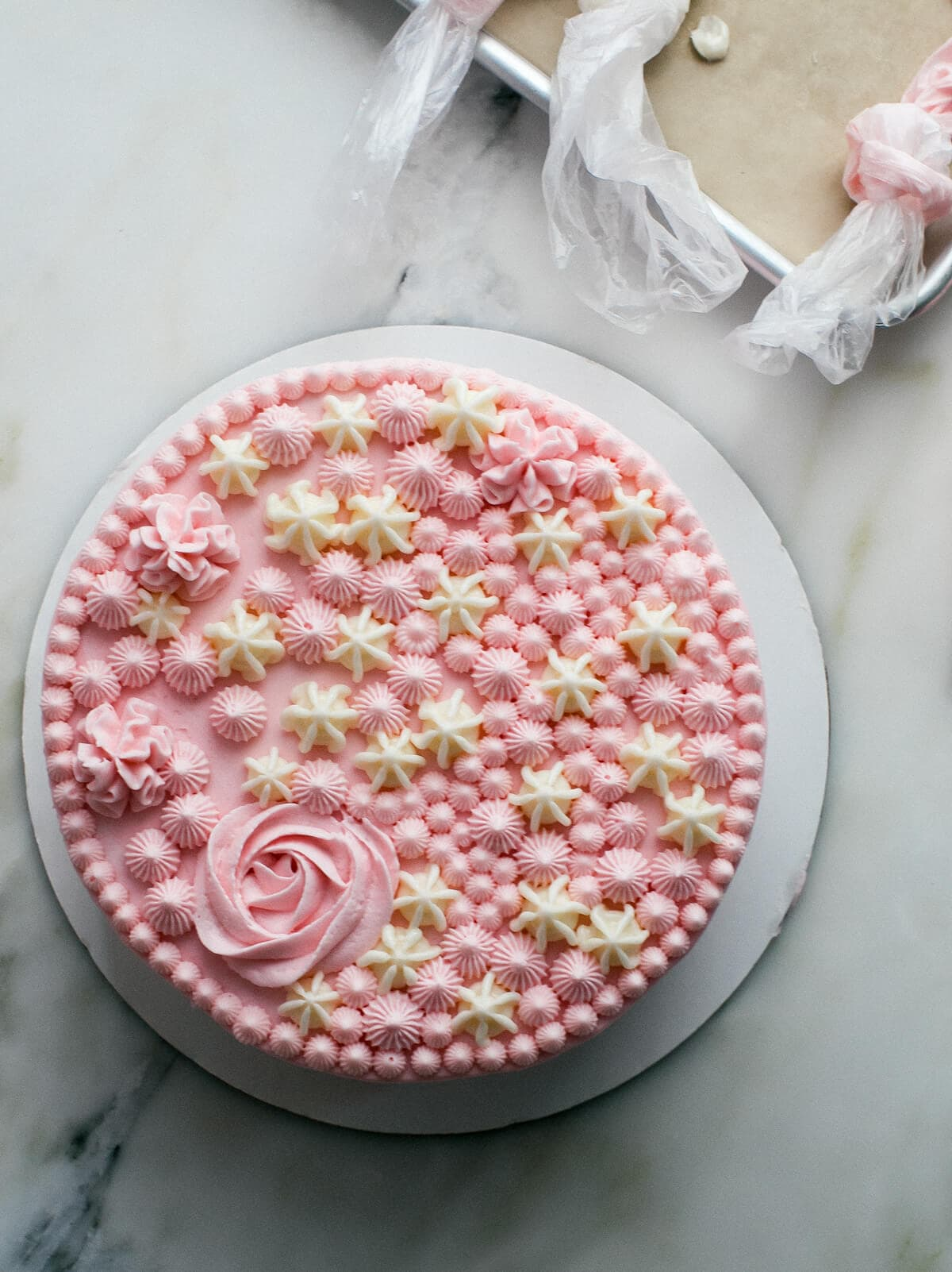Coconut Cake With Hibiscus Frosting A Cozy Kitchen