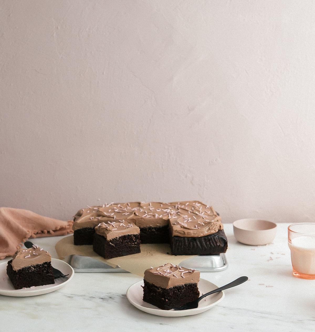 One Bowl Chocolate Sheet Cake