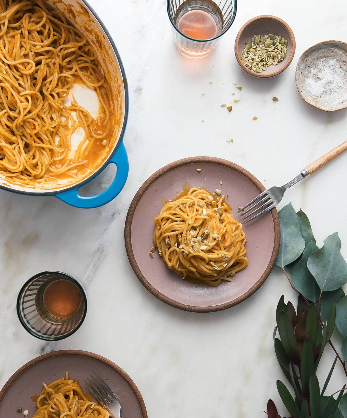 Easy, Creamy, Homemade Pumpkin Sauce Chorizo-Spiced Pasta