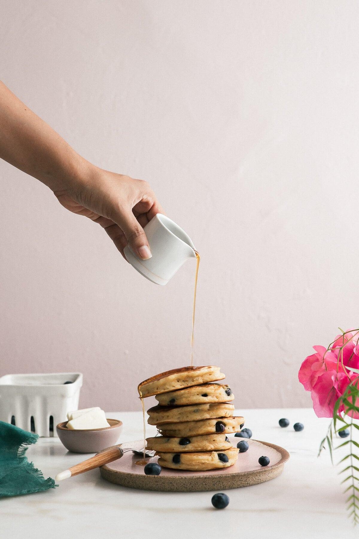 Cornbread Blueberry Pancakes