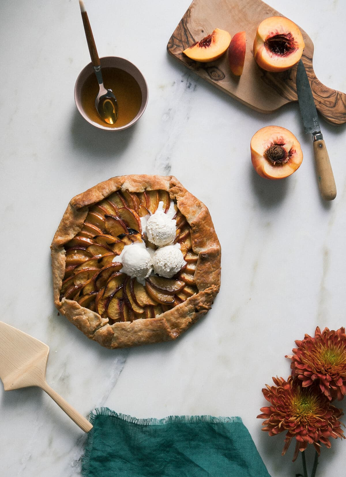 Peach Galette with Baklava Filling