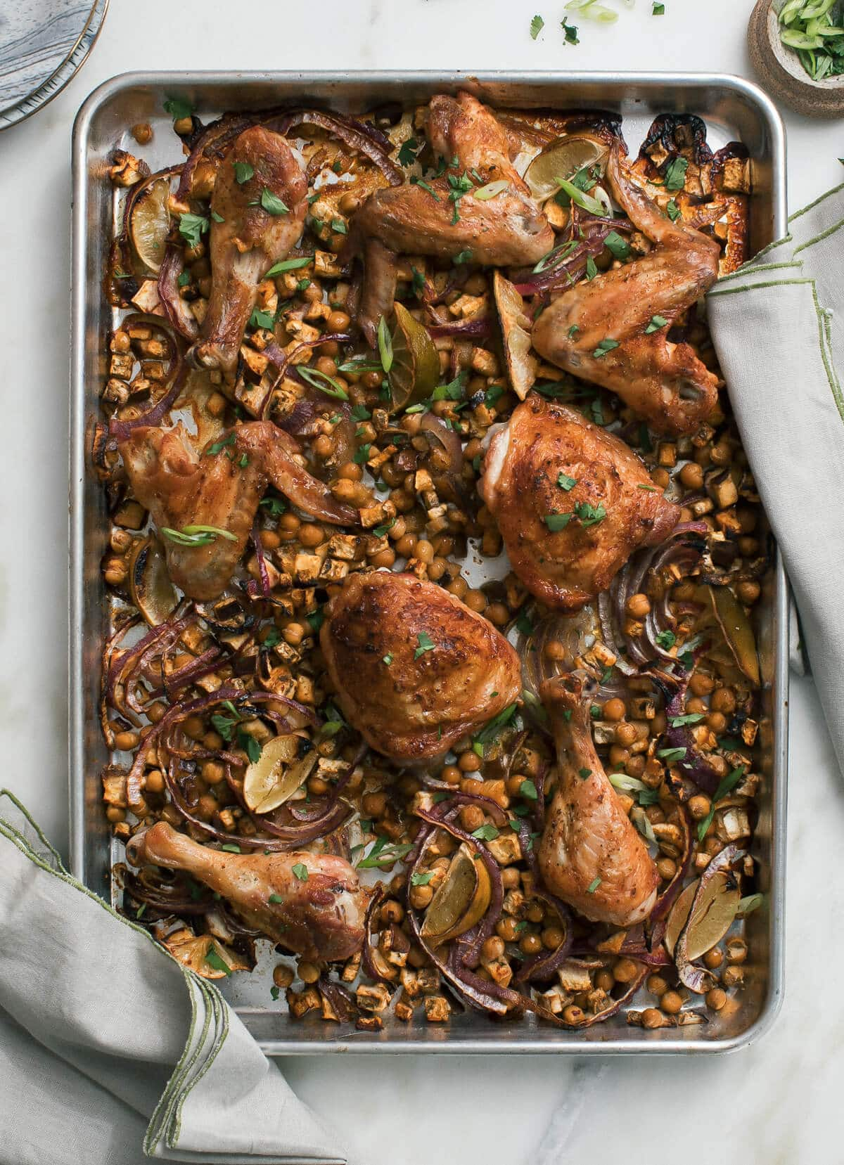 Sheet Pan Harissa Chicken