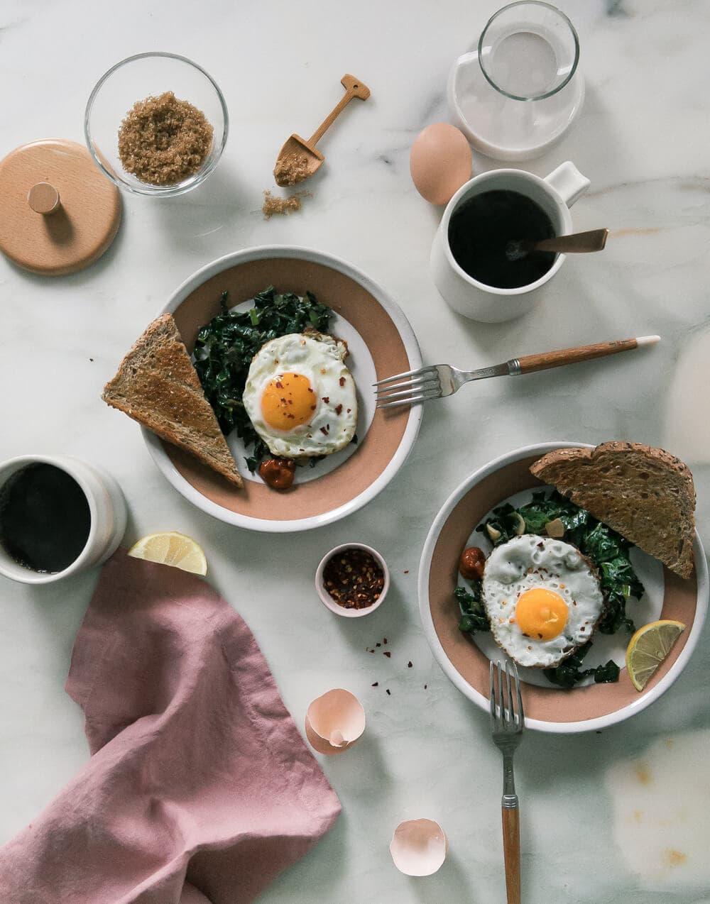 Olive Oil Fried Eggs
