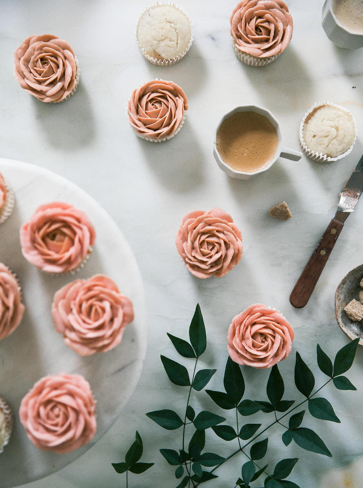 Cappuccino Flavored Rose Cupcakes A Cozy Kitchen