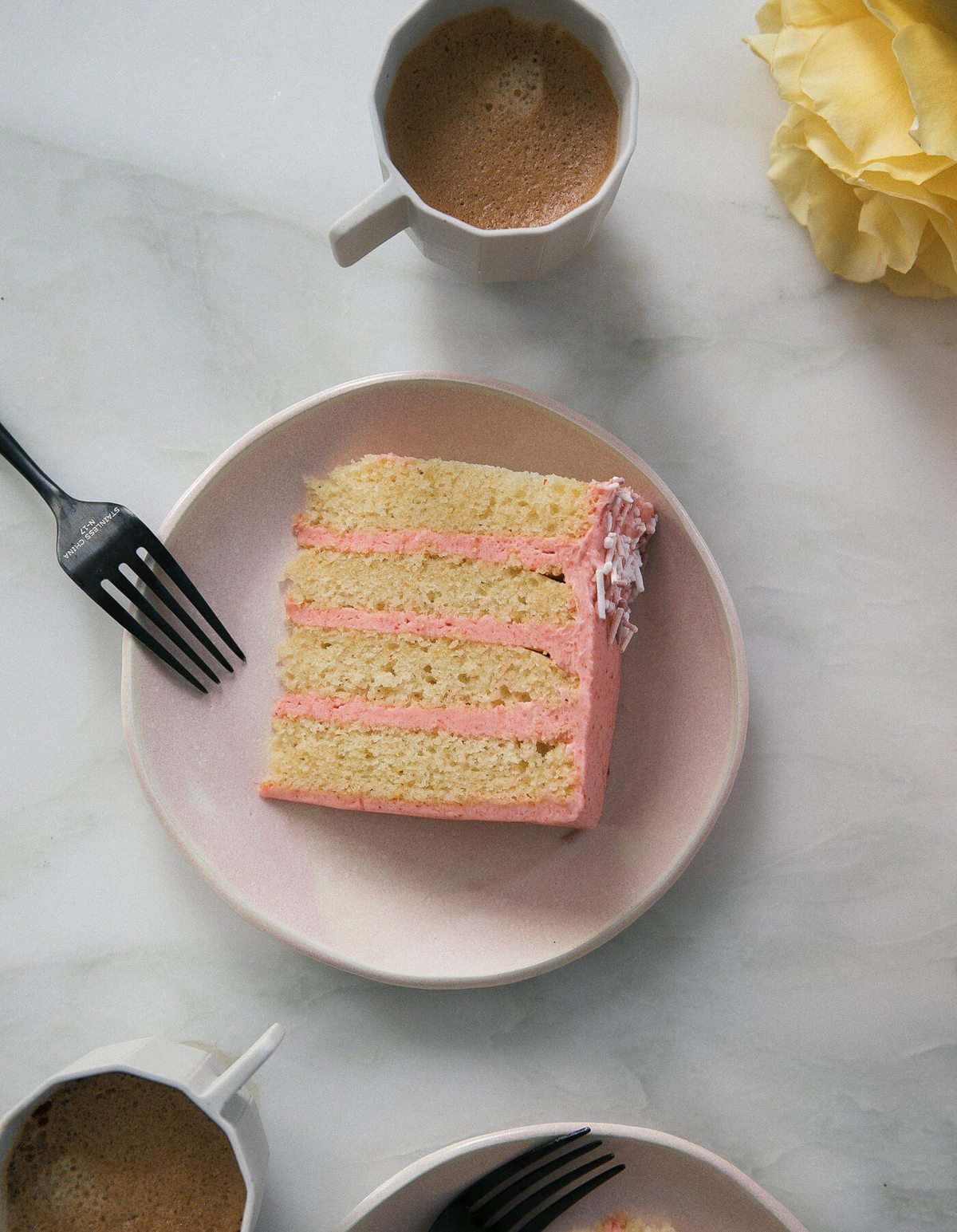 Corn Cake with Guava Frosting