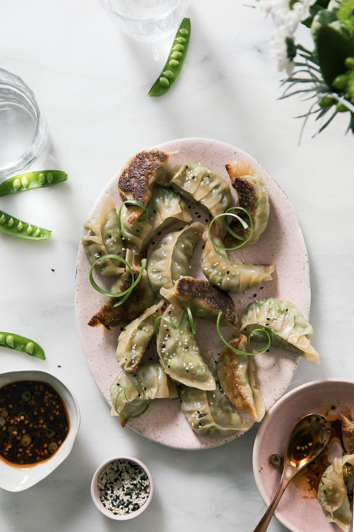 Spring Vegetable Pot Stickers