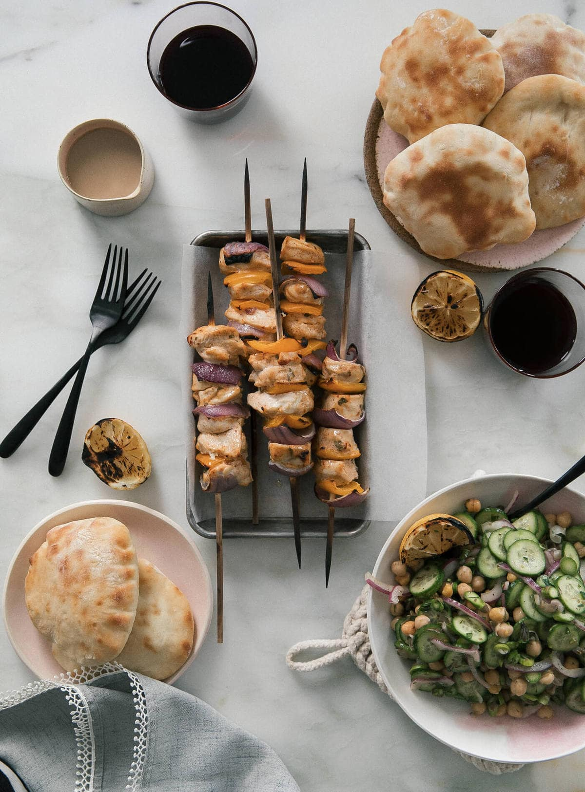 Yogurt-Marinated Ras al Hanout Chicken Skewers