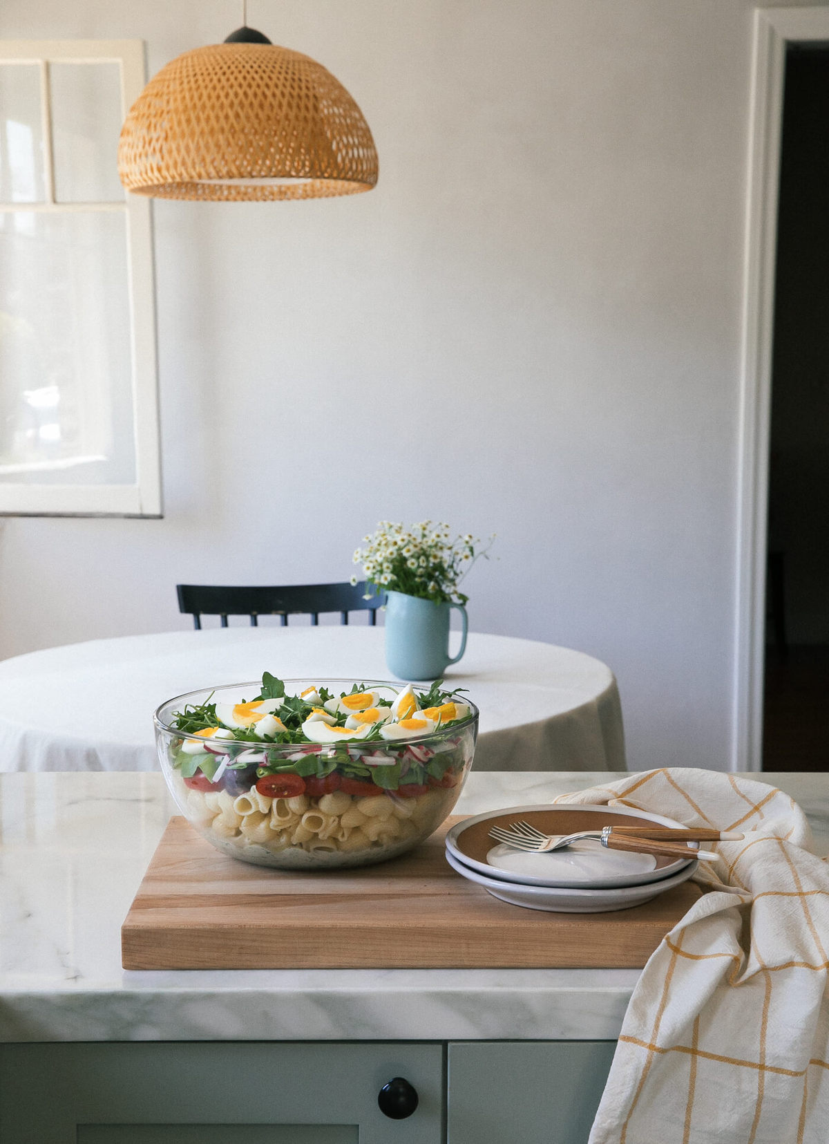 Seven Layer Pasta Salad