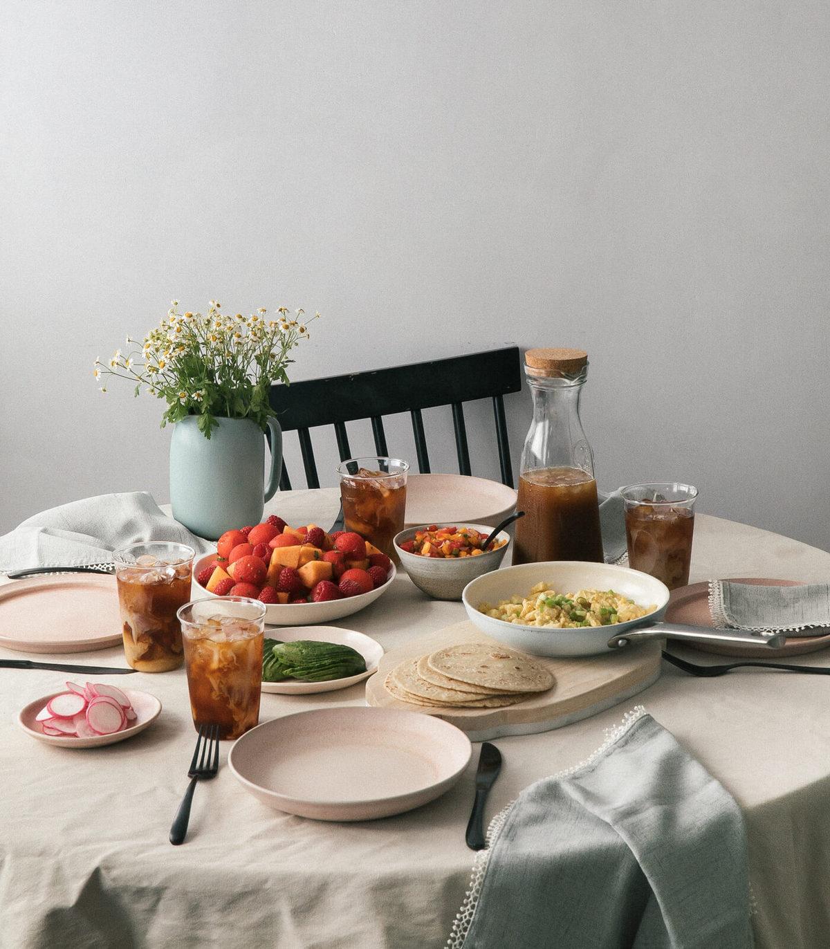 Breakfast Taco Brunch with Heirloom Tomato Pico de Gallo