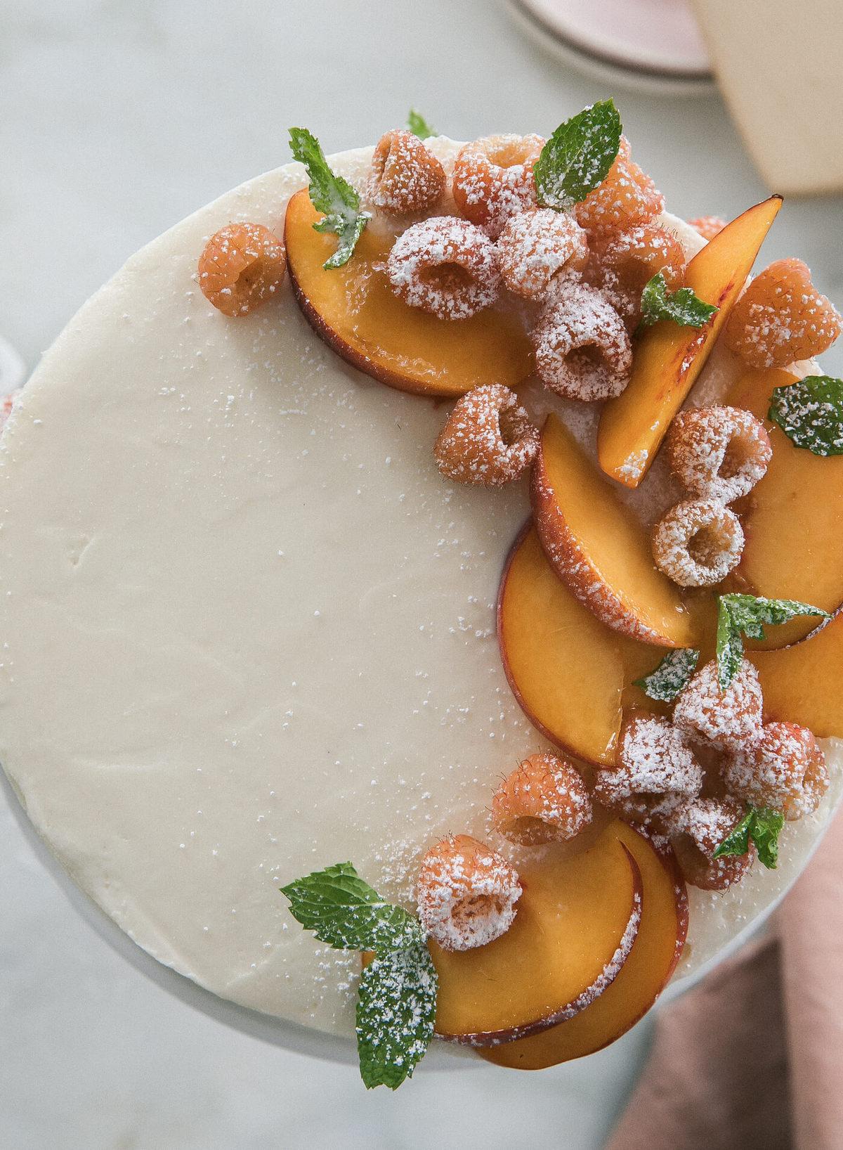 Peach Maple Yogurt Cake